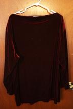 Liz Claiborne Dark Red Velour Top - Size 2 Plus - $21.99