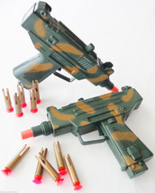 2X Toy Guns Military Dual UZI Machine Gun Dart Pistol Set SAFE - $21.76