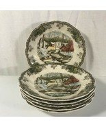Johnson Bros The Ice House Saucers The Friendly Village Set of 6  - $9.89