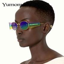 Luxury Rimless Fashion Steampunk Men Sunglasses Fashion Oval Designer Women Sun  image 4