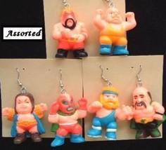 Huge Funky Chunky WRESTLERS EARRINGS-WWE WECW WWF-Wrestling Costume Jewe... - $5.99