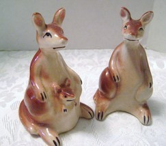 Vintage Kangaroo Salt & Pepper Shakers from Japan - $18.00