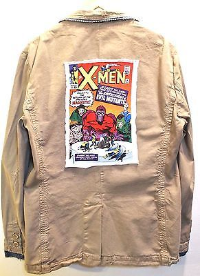 ZARA Men's Spring Light Khaki Blazer- X-MEN Print Size XL