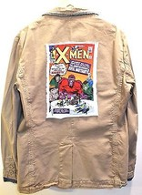 ZARA Men's Spring Light Khaki Blazer- X-MEN Print Size XL - $37.39