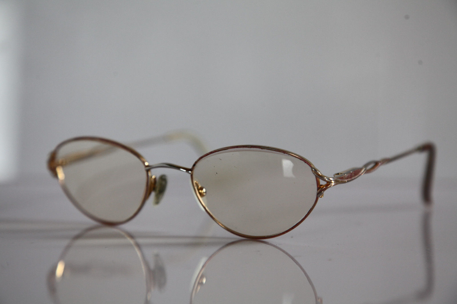 Eyewear,  Gold, Chrome Frame,  RX-Able  Prescription Lenses.