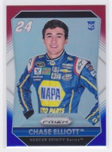 Chase Elliott 2016 Panini Prizm NASCAR RC Red White and Blue Prizm Card #24 - $1.99