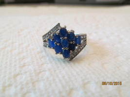 SAPPHIRE RING, SIZE 9. MARKED 925, NEW - £11.11 GBP