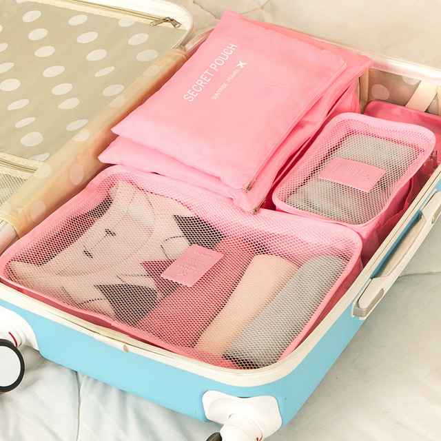 6 PCS Travel Storage Bag Set For Clothes Tidy Organizer Wardrobe Suitcase Pouch