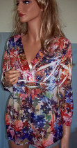 NWOT M L  Simply Irresistible Multi-Color Pullover Blouse Tunic Top Shirt  - $19.99