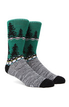 "MEN'S GUYS ""NEW"" WINTER IN BEIRUT TREE GLAMPING CREW SOCKS NEW $15 - $9.99"