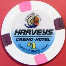$1 Casino Chip, Harvey's, Council Bluffs, IA. V68. - $4.29