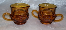 Vintage Indiana Glass Kings Crown Amber Sugar B... - $6.99