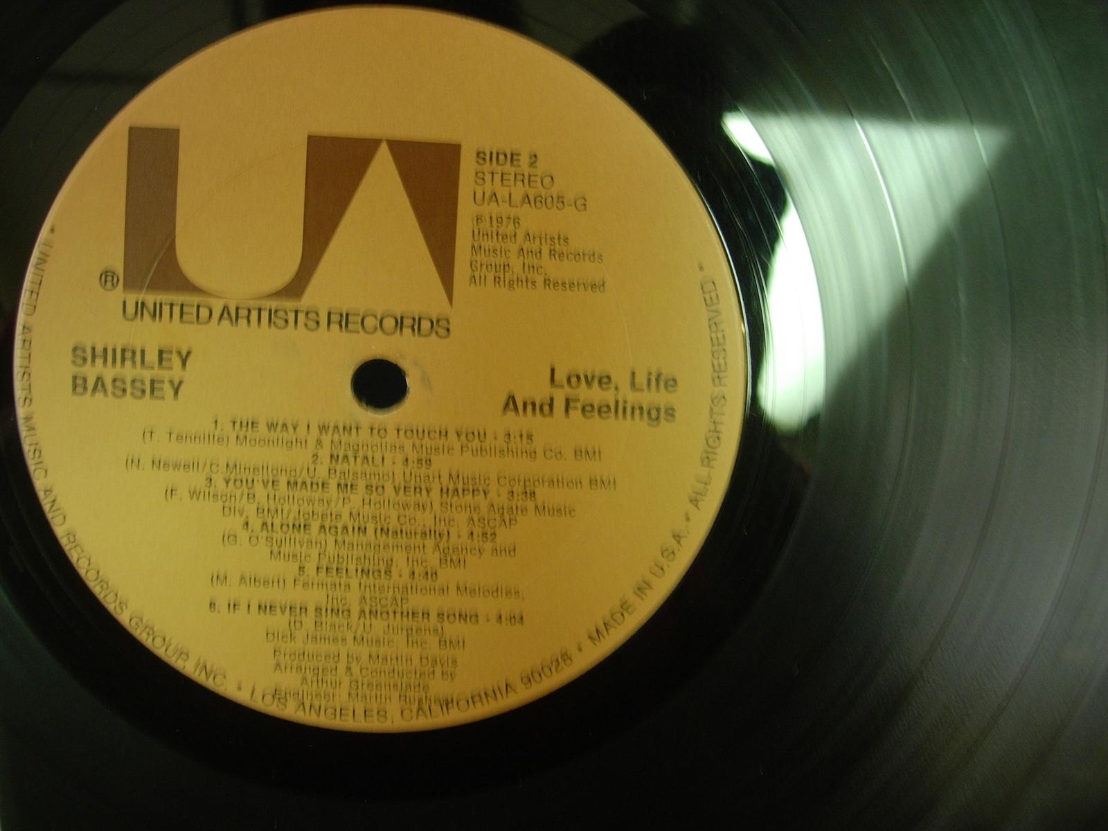 Shirley Bassey - Love, Life and Feeling - United Artists UA-LA605-G