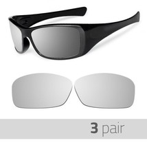 3 Pair Optico Replacement Polarized Lenses for Oakley Hijnix Sunglasses Mirror - $21.99
