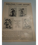 Vintage Amazing $1 Art Offer  Colonial Studios Print Magazine Advertisem... - $4.99