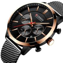 CURREN Business Men Watch Luxury Brand Stainless Steel Wrist Watch Chronograph A - $50.53