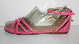 Gap NWT Womens 10 Pink Patent Strappy Flat Sandals w/ Closed Heel & Buckle - $25.07