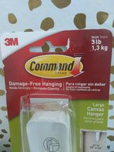 3M Command Damage Free Hanging 3LB LARGE Canvas Hanger W/Strips  NEW     image 6