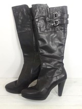 Cole Haan Air Women's 11B Leather Boots Black Side Zip Buckle Accents EUC  - $133.00