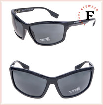 BURBERRY 4297 Wrap Mask Shiny Black Sunglasses BE4297S Unisex Runway Aut... - $168.40