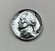 1962 Proof Jefferson Nickel 5c - Natural Blue Toning - $19.85
