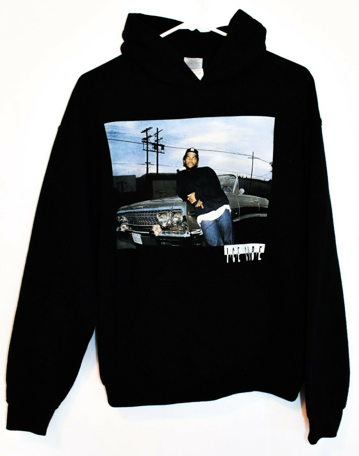 Gildan Heavy Blend Ice Cube Hip Hop Rap Graphic Hooded Hoodie Sweatshirt Size M