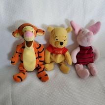 "They Disney Store Winnie the Pooh Bean Bag Beanbag Plush Lot Tigger Piglet 9"" - $24.74"