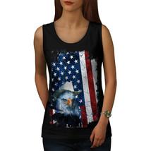 Eagle Cowboy Hat Flag USA Tee Eagle Flag Women Tank Top - $12.99