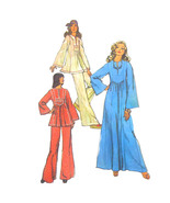 1970s Vintage Simplicity Sewing Pattern 6044 Misses Caftan Tunic Dress P... - $14.95