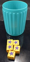 Milton Bradley's Liars Dice Replacement Dice and Cup Game 1987 Edition MB - $12.73