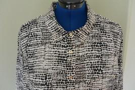 Calvin Klein Woman Top Tunic 2X Plus Animal Print CK Roll Tab Sleeves NWT image 2