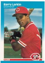 1987 Fleer #204 Barry Larkin Reds NM-MT (RC - Rookie Card)  - $10.00
