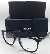 Neu Prada Rx-Able Brille Vpr 10T 1AB-1O1 51-21 145 Schwarz & Silber Fassung