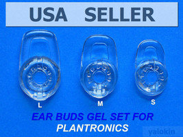 3 NEW Clear Earbuds Eartips Gels (S/M/L) PLANTRONICS Explorer 500 - $16.04