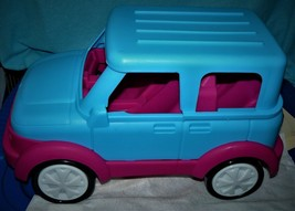 XL NEW TOY SUV AND BOAT SET, BARBIE LIKE, PINK AND BLUE WITH REMOVEABLE ... - $23.27