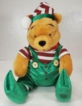 Disney Store Winnie the Pooh Plush Christmas Elf  - $17.99