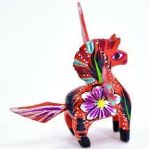 Handmade Alebrijes Oaxacan Wood Carved Folk Art Mini Pegasus Horse Figurine image 4