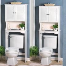 Lot 2 Bathroom Storage Over The Toilet  White Cabinet Organizer Shelf - Set - $165.00