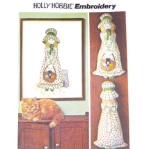 Vtg 70s Simplicity 6248 Holly Hobbie Embroidery Transfer Picture Pillow ... - $7.95