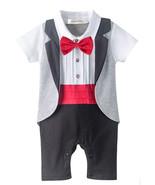 StylesILove Newborn Infant Toddler Baby Toddler Boy Wedding Tuxedo Bowti... - $17.99