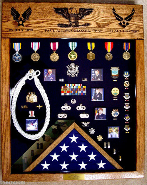 Primary image for LASER TOP MILITARY BADGE MEDAL FLAG CHALLENGE COIN DISPLAY CASE SHADOW BOX
