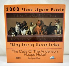 "The Cats of the Anderson House Hotel SunsOut Puzzle - 1000 Pieces 34"" x 16"" New - $22.76"