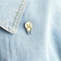 Cartoon Light Bulb Brooch Pin  Backpack Shirt Pin Badge Jewelry - $0.99