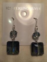 Vintage Genuine Austrian Crystal Drop 925 Sterling Silver Earrings - $22.18
