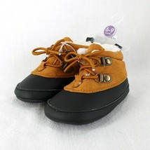 Carters Duck Boots Infant Baby Boys Sz 6-9 Months Brown Black Soft Sole New - $11.99