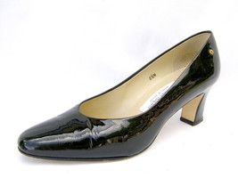 "Etienne Aigner Black Patent Leather Pumps Women's 6½M 2½"" High Heels Very Good - $20.54"