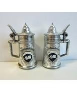 Vintage Mini Las Vegas Dice Design Beer Stein Salt & Pepper Shakers -Japan - $11.99