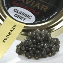 Sevruga Classic Grey Caviar - Malossol, Farm Raised - 1 oz, glass jar - $159.86