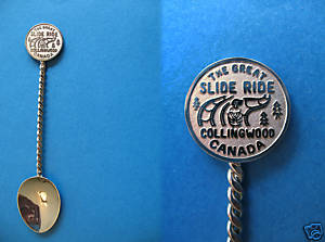 Primary image for COLLINGWOOD Ontario Souvenir Collector Spoon Collectible The GREAT SLIDE RIDE