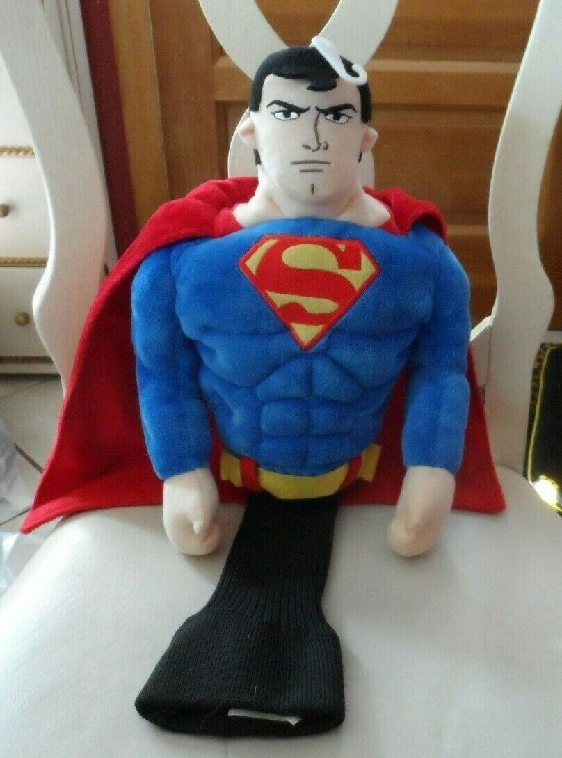 "Primary image for Golf Club Head cover - Superman 19"" with knit bottom ,NWOT"